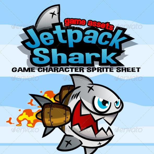 Jetpack Shark Character Sprite
