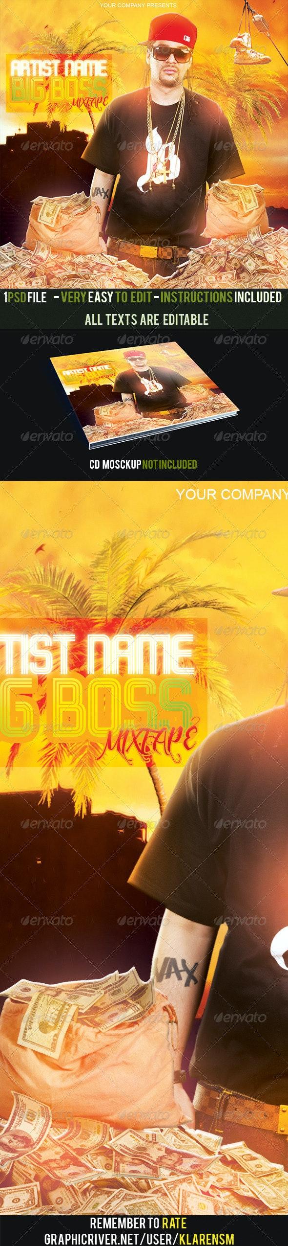 Big Boss Hip Hop Album Mixtape CD Cover Template - CD & DVD Artwork Print Templates