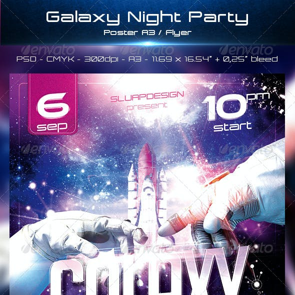 Galaxy Night Party Templates