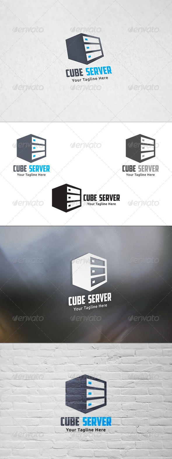 Cube Server - Logo Template - Objects Logo Templates