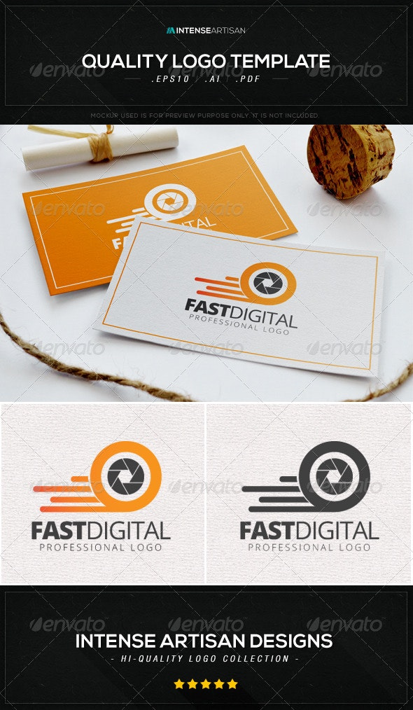 Fast Digital Logo Template - Objects Logo Templates