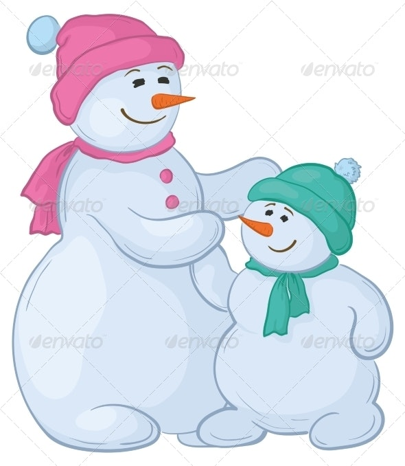 Snowmen Mother and Son - Miscellaneous Characters