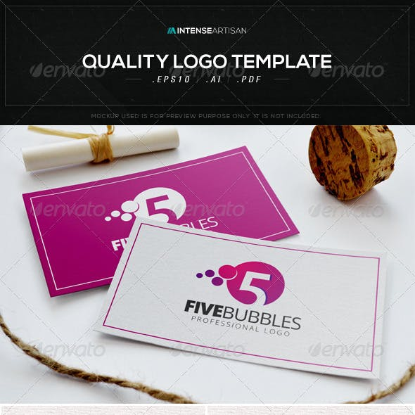 Five Bubbles Logo Template