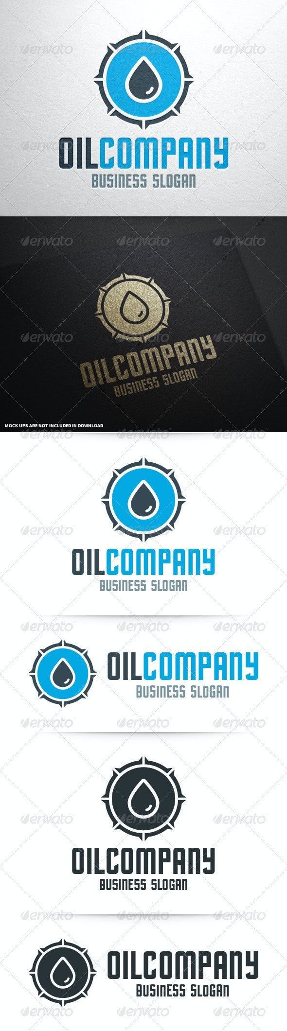 Oil Company Logo Template - Nature Logo Templates