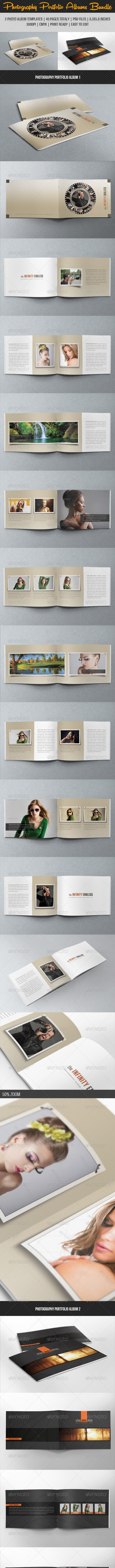 2 in 1 Photography Portfolio Album Bundle 02 - Photo Albums Print Templates