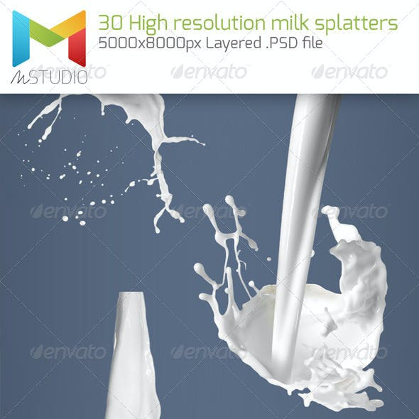 High Resolution Milk Splatter