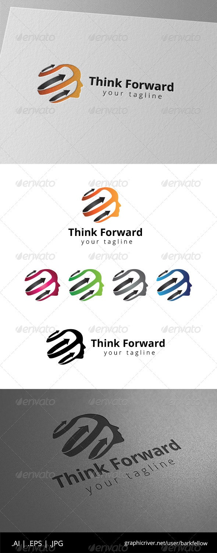 Head Think Fast Logo - Humans Logo Templates
