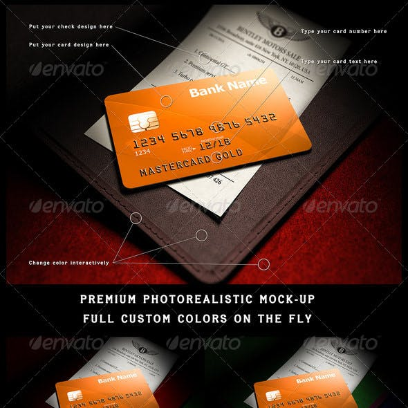 Photorealistic full-custom credit card mock-up