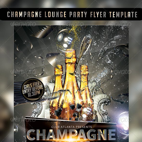 Champagne Lounge Party Flyer Template