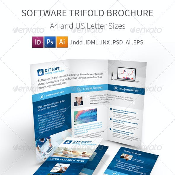 IT and Software Trifold Brochure
