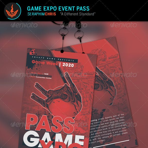 Game Expo Event Pass Template