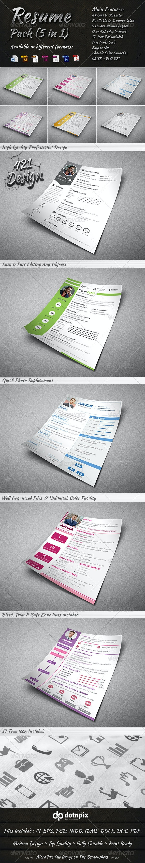 Resume Pack (5 in 1) - Resumes Stationery