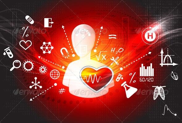 Learning Medical Technology Illustration - Health/Medicine Conceptual