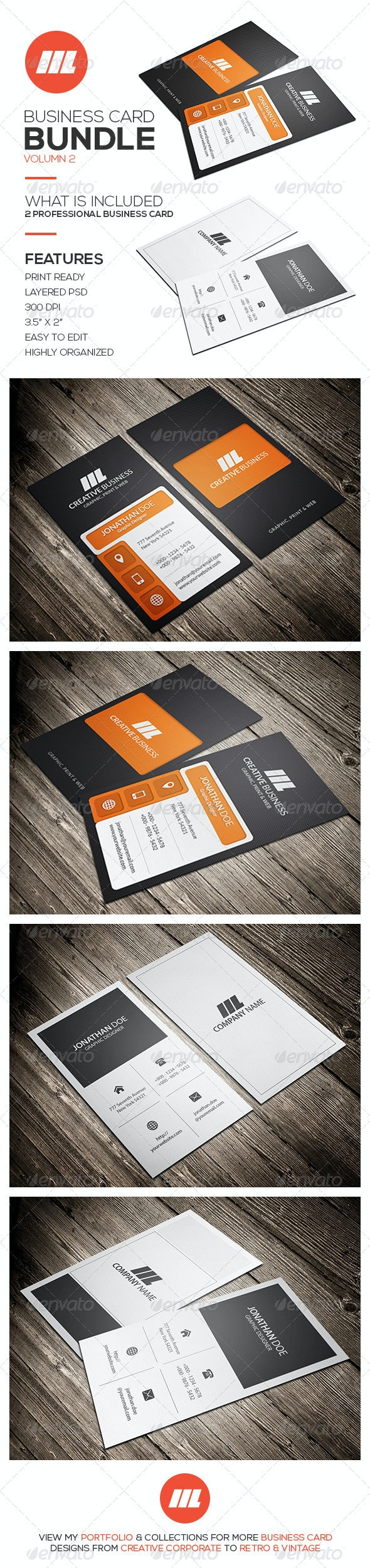 Business Card Bundle Vol 2 - Creative Business Cards