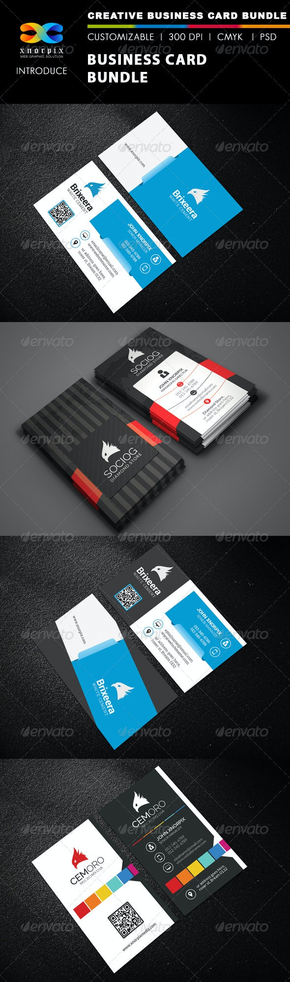 Business Card Bundle 3 in 1-Vol 41 - Corporate Business Cards