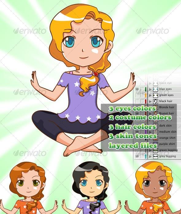 Yoga Woman - Health/Medicine Conceptual