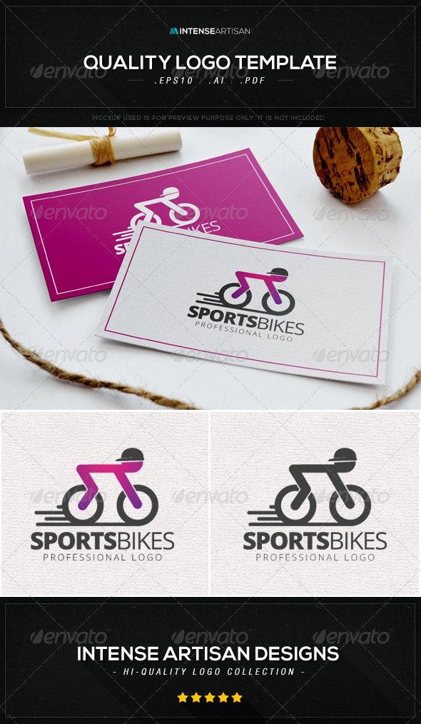 Sports Bike Logo Template - Humans Logo Templates