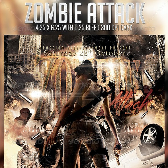 Zombie Attack Flyer Template
