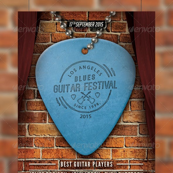 Guitar Festival Flyer Template