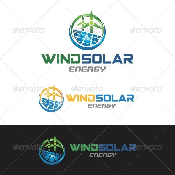 Wind Solar Energy Logo