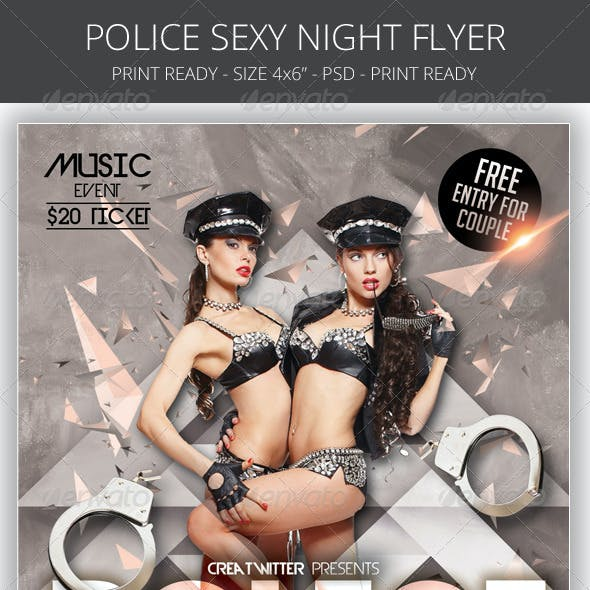 Police Sexy Night Flyer Template