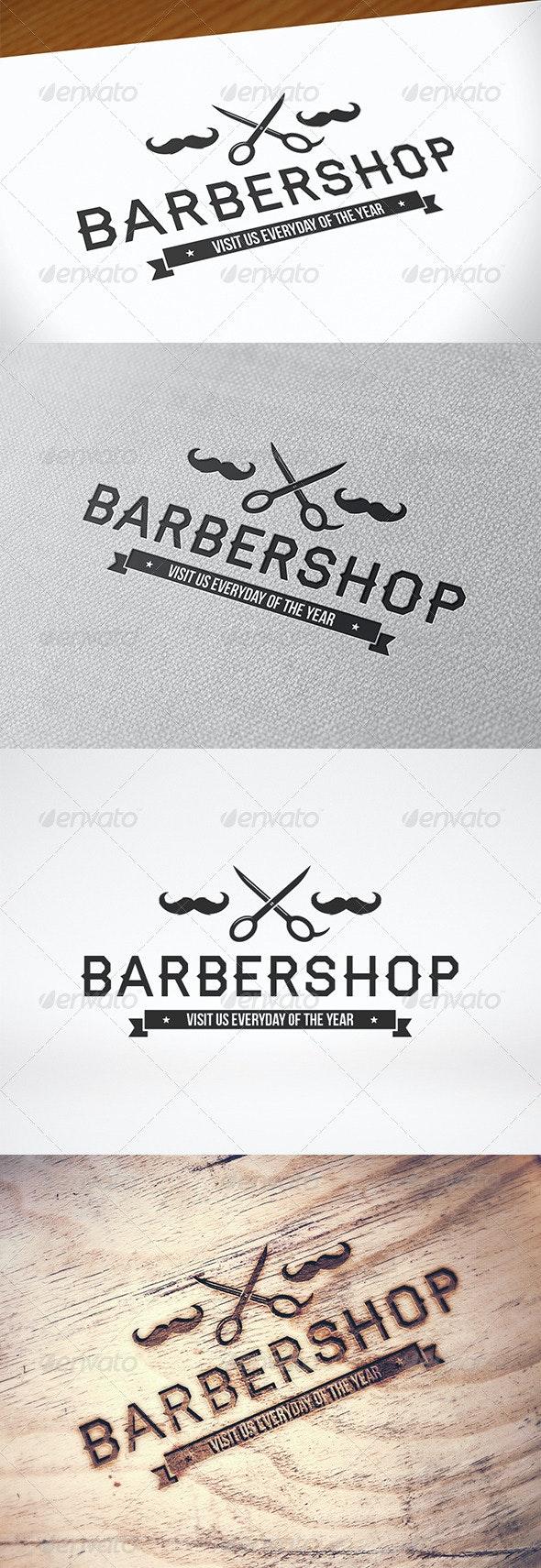 Barber Shop Logo Template - Crests Logo Templates