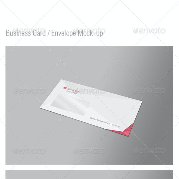Envelope / Business Card Mock-Up