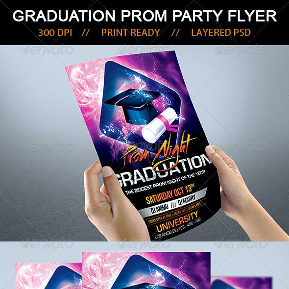 Graduation Prom Night Party Flyer