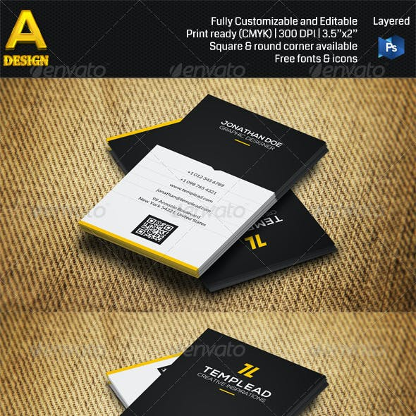 3 in 1 Corporate Business Card Bundle ANB0035