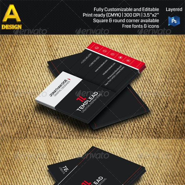 3 in 1 Corporate Business Card Bundle ANB0038