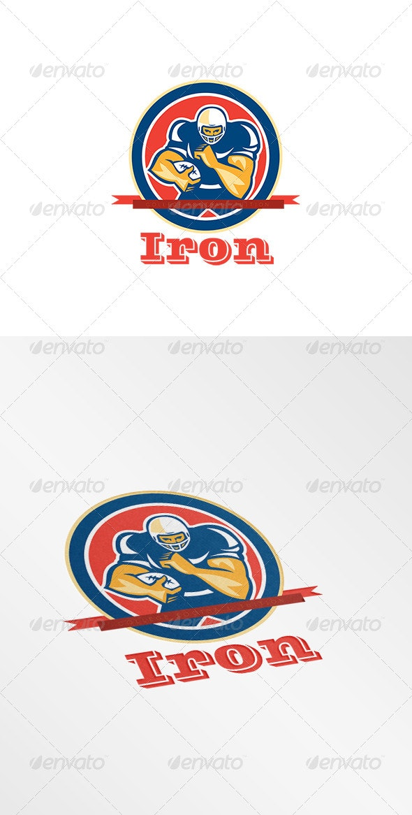 Iron College Football Tuition Logo - Humans Logo Templates