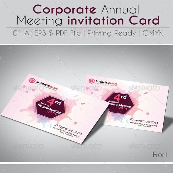 Corporate Annual Meeting invitation Card V02
