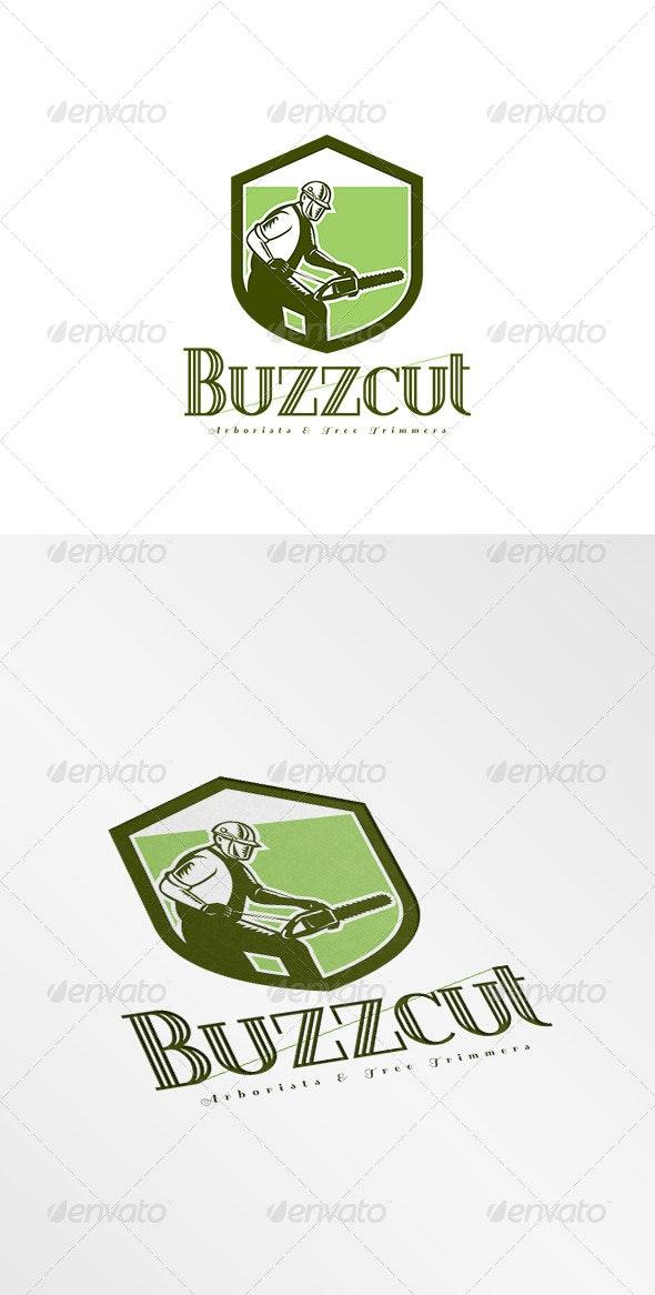 Buzzcut Arborist and Tree Surgeons Logo - Humans Logo Templates