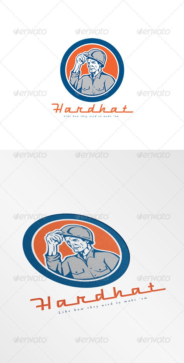 Hardhat Construction Logo - Humans Logo Templates