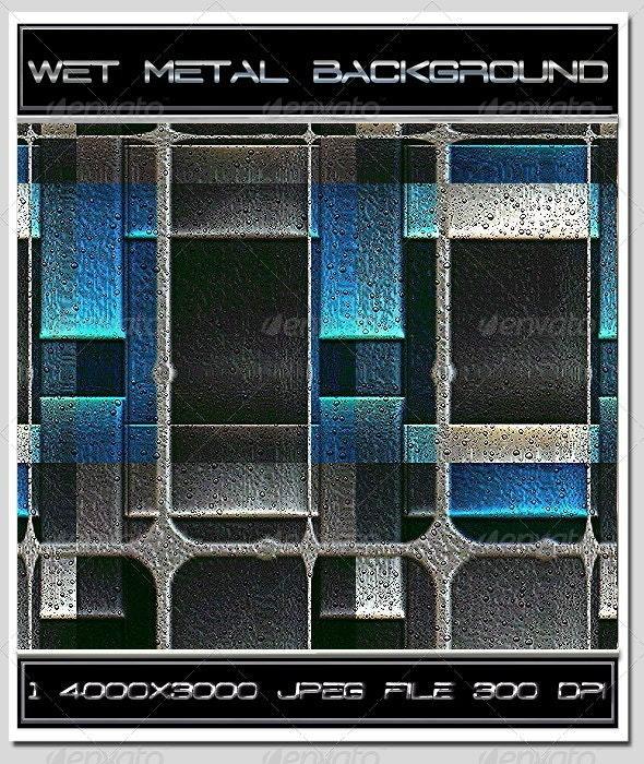 Wet Metal Background