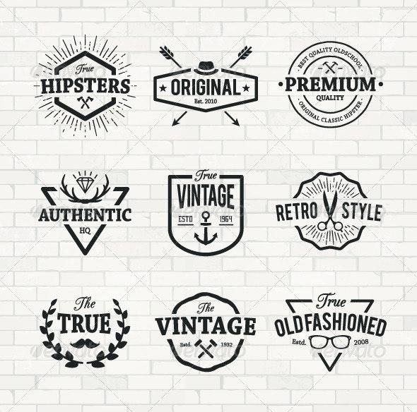 Hipster Emblems Set - Decorative Symbols Decorative