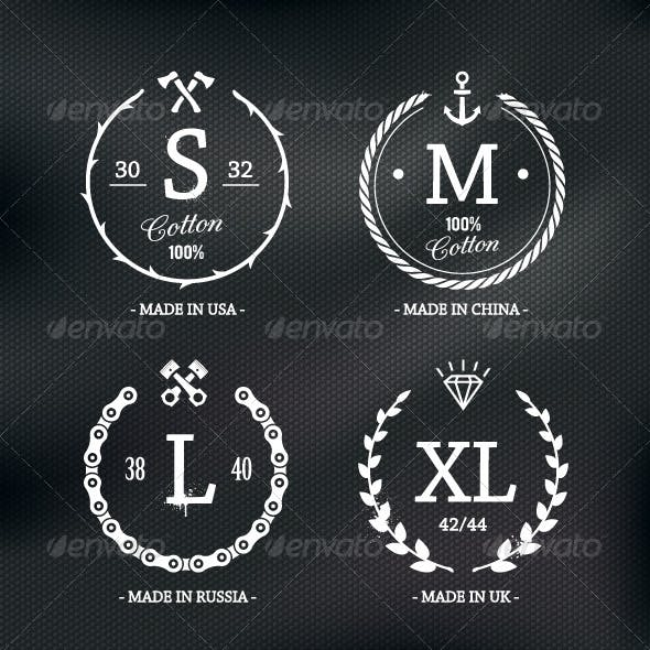 Wear Size Emblems