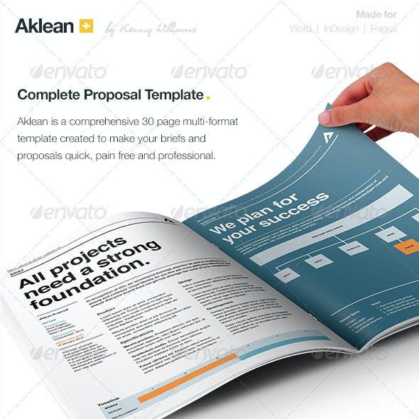 Aklean Proposal & Brief Template