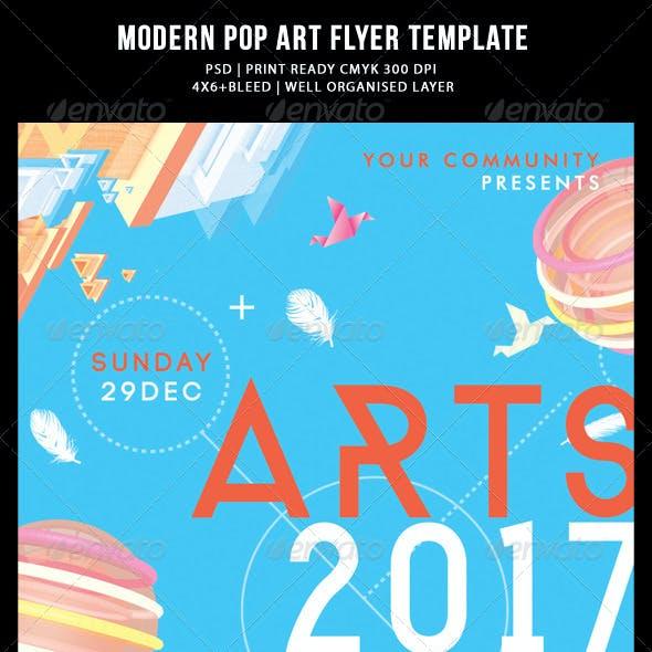 Modern Pop Art Flyer Templates