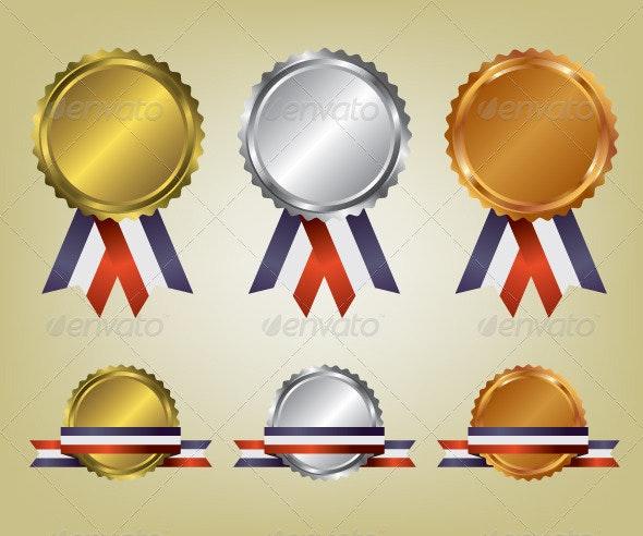Three Medals Illustration - Sports/Activity Conceptual