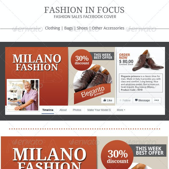 Fashion Sales Facebook Cover