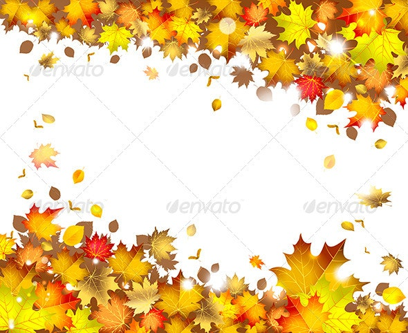 Background of Autumn Leaves - Decorative Vectors