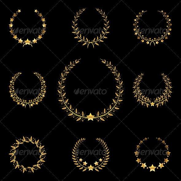 Golden Wreath - Decorative Vectors