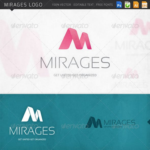 Mirages Letter M Logo Template