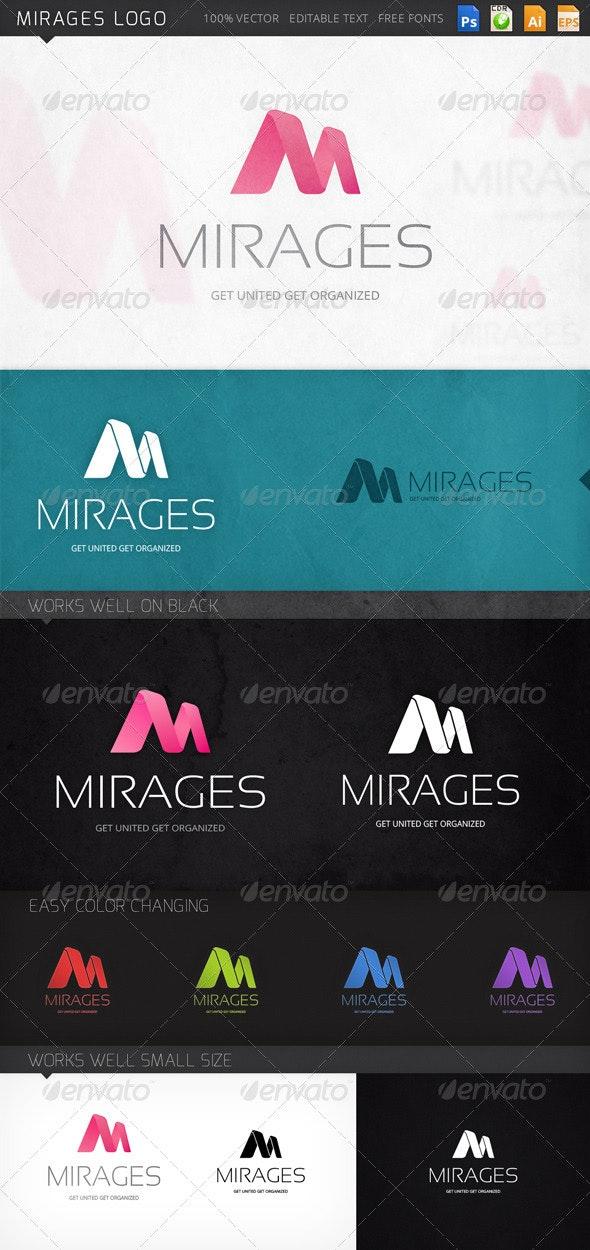 Mirages Letter M Logo Template - Letters Logo Templates