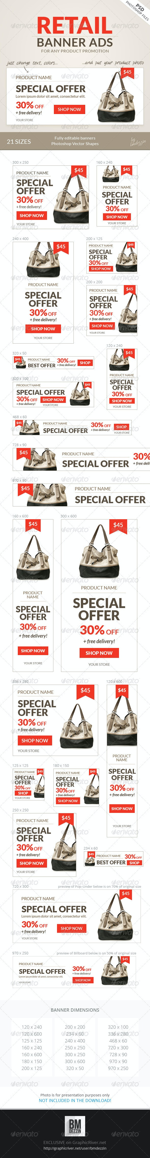 Retail Banner Ads - Banners & Ads Web Elements