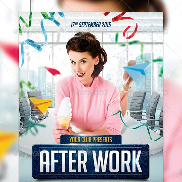 After Work Party Flyer Template