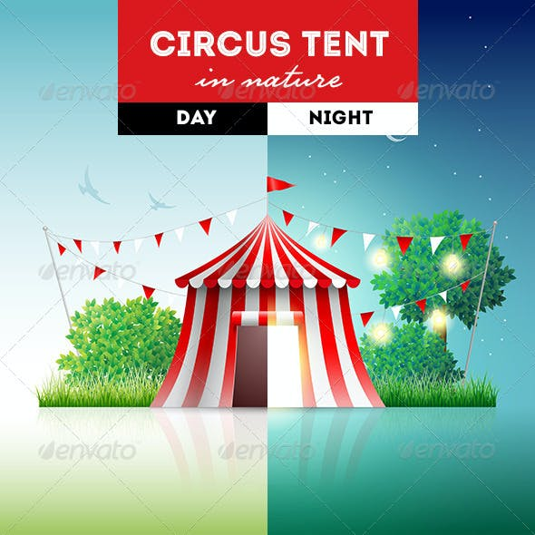 Circus Tent in Nature