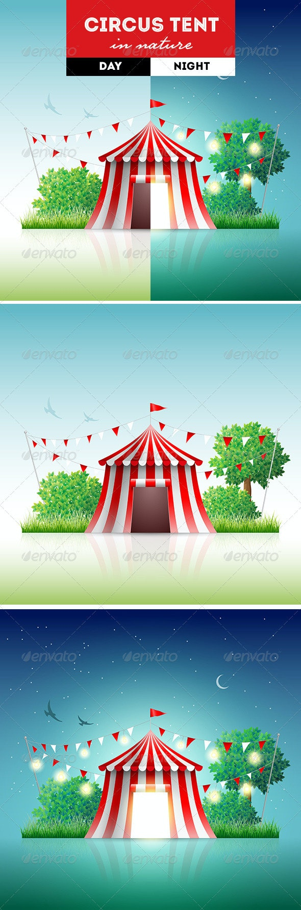 Circus Tent in Nature - Miscellaneous Vectors