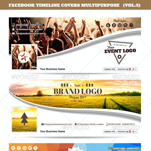 Facebook Timeline Covers Multipurpose Vol.3